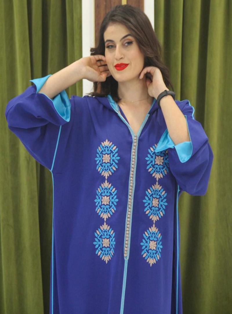 Moroccan caftan, new style and lace embroidery