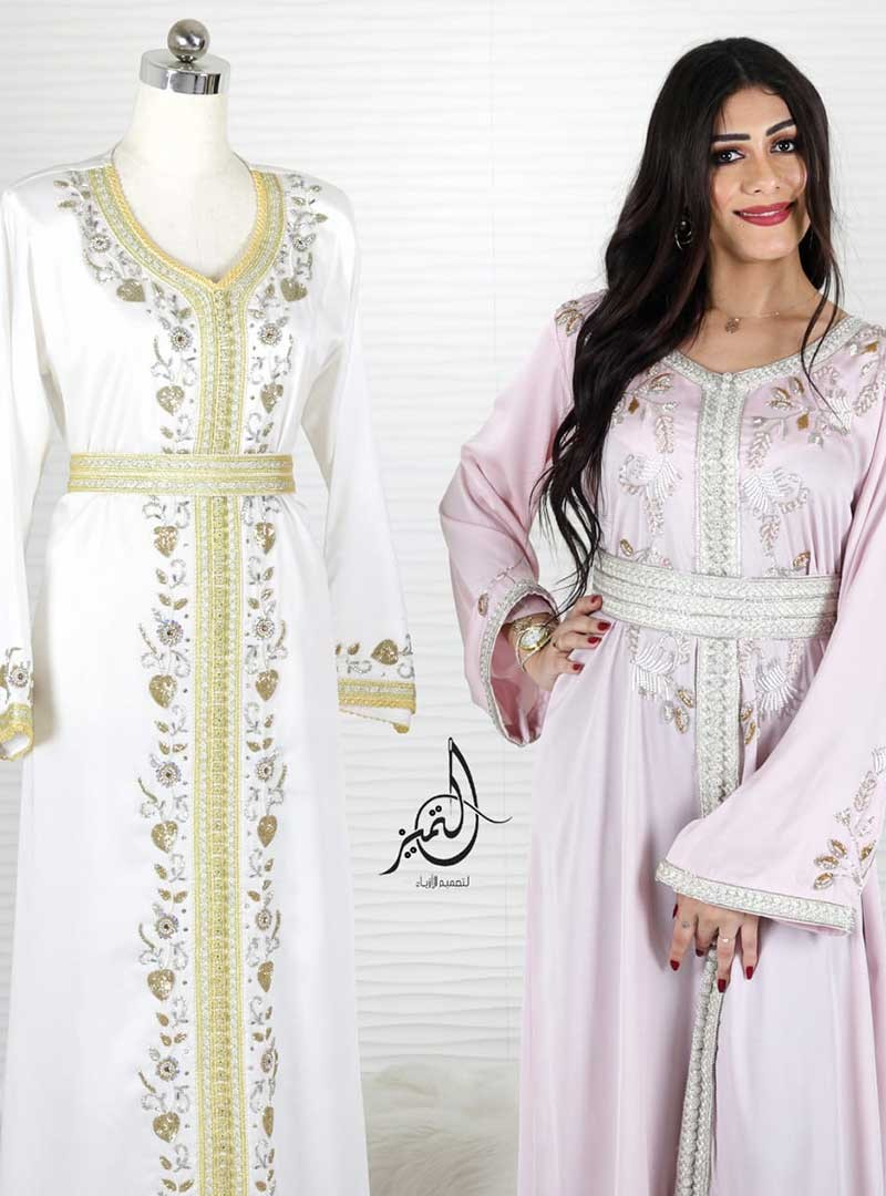 Simple Moroccan Caftan with Embellishments