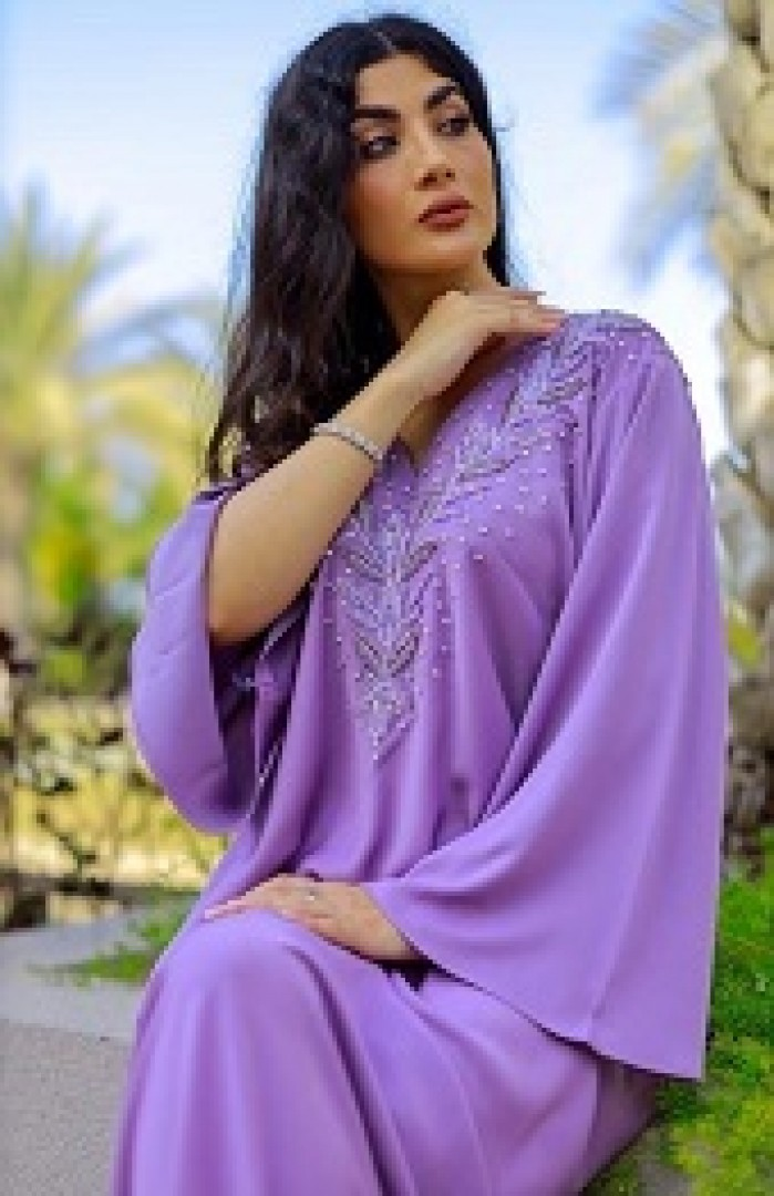 Purple Mukhwar with silver Embellishments